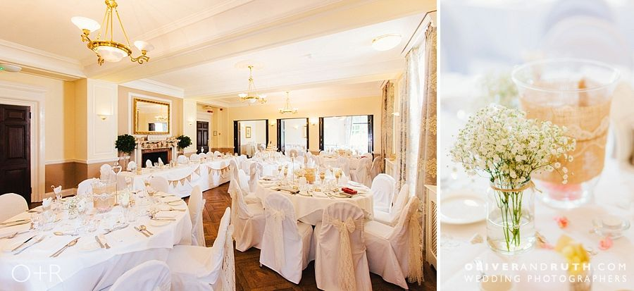 Wedding room layout at Llansantffraed Court