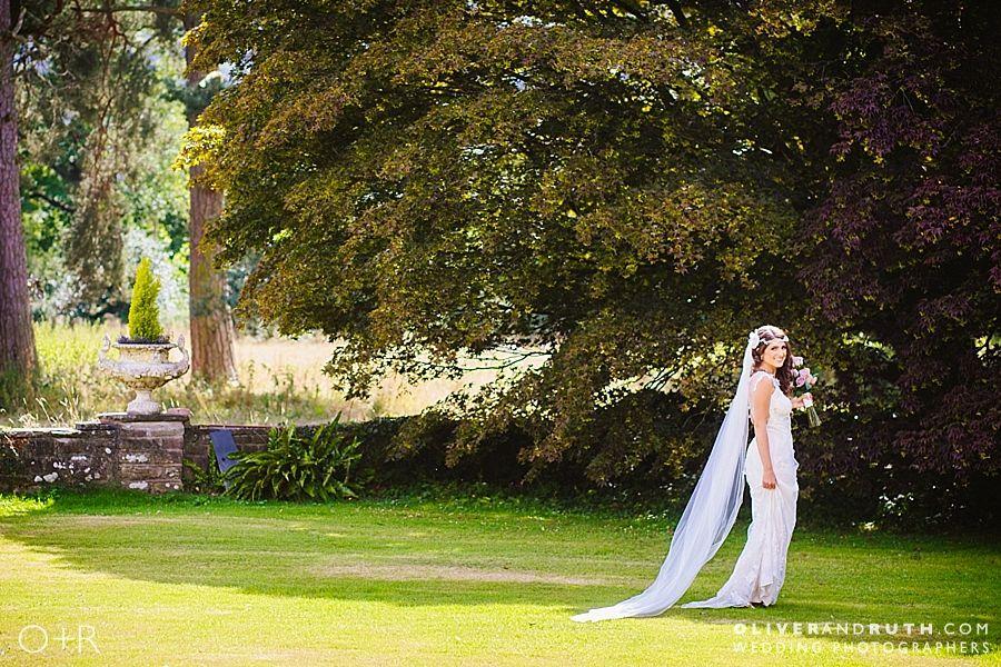 Bride at Glangrwyney Court wedding