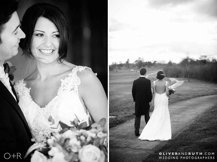 Bride and groom wedding portraits at the Celtic Manor