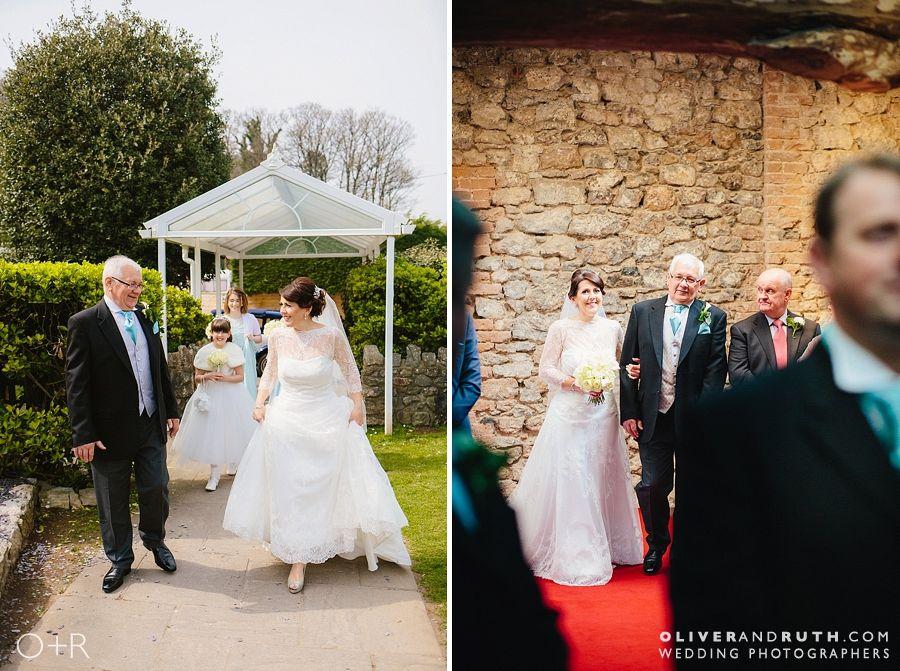 Bride's arrival at Oxwich Bay Hotel wedding