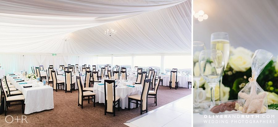 Oxwich Bay hotel marquee layout