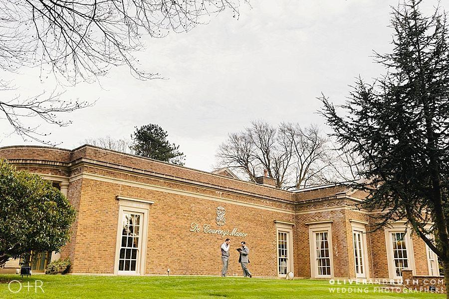 Groom practises wedding speech outside De Courceys Manor