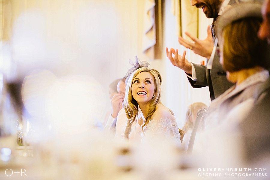 groom's wedding speech at De Courceys Manor