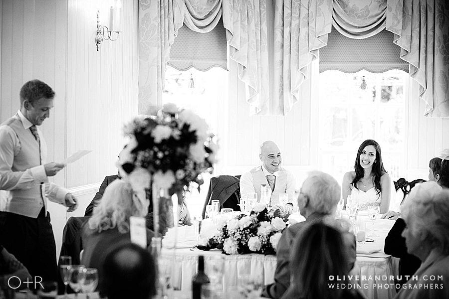 Best man's wedding speech at De Courceys