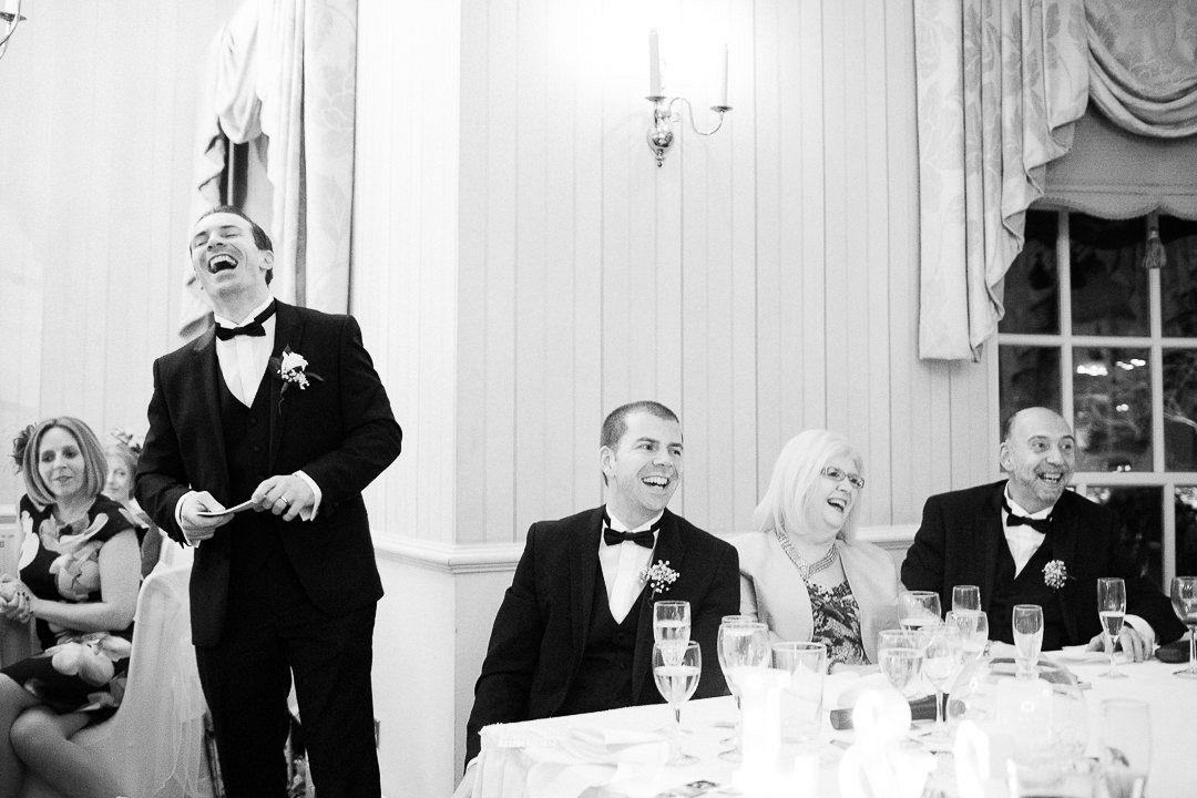 Groom's wedding speech at De Courceys Manor, Cardiff