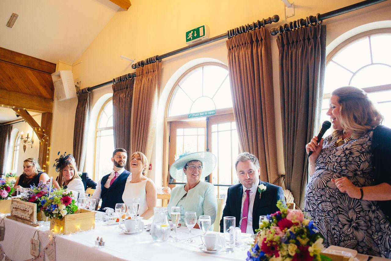 Wedding speeches at The King Arthur Hotel