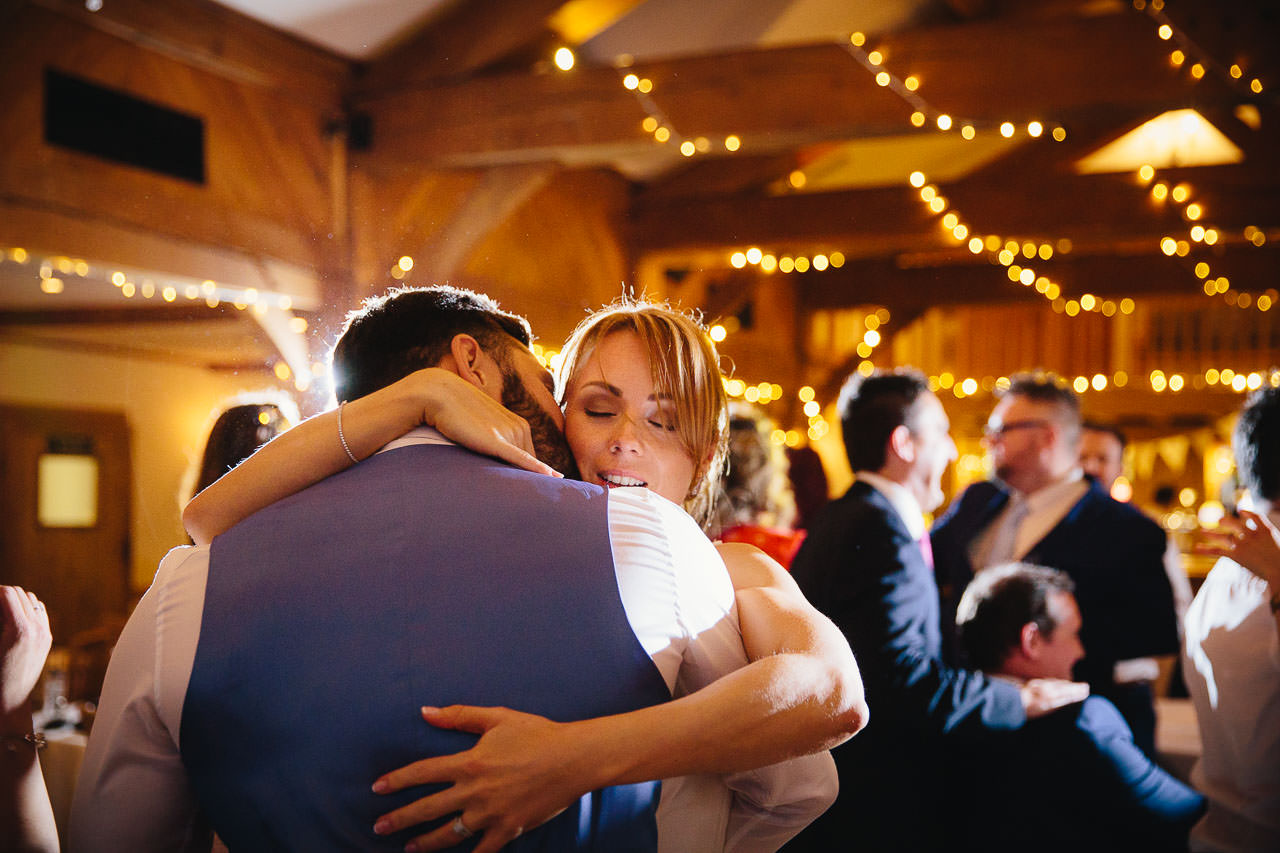 Bride and groom's first dance at The King Arthur Hotel